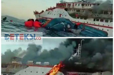 Kapal Penumpang KM Karya Indah Alami Kebakaran di Perairan Pulau Limafatola
