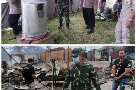 Dandim 0115/Simeulue Didampingi Kapolres Tinjau Pengungsi Kebakaran dan Dapur Umum
