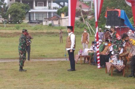 Bupati Bangkalan Pimpin Apel Gelar Pasukan Penanganan Covid-19 di Bangkalan