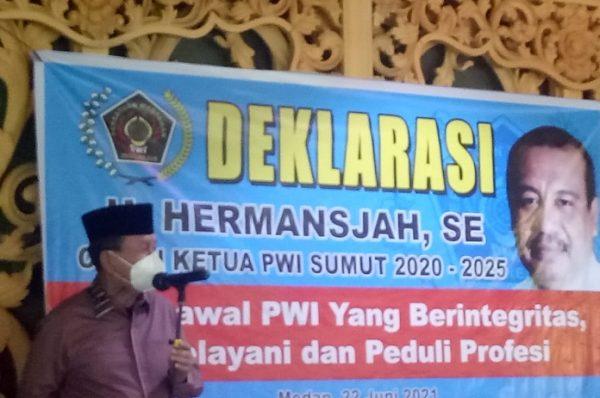 Didukung Sejumlah Tokoh, H Hermansyah Deklarasi Calon Ketua PWI Sumut