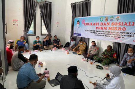 Ujong Tanoh Adakan Edukasi Dan Sosialisasi PPKM Mikro