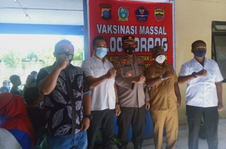 Kolaborasi Ka-UPT Rusunawa dan Polres Belawan Gelar Vaksinasi 10 Ribu Orang
