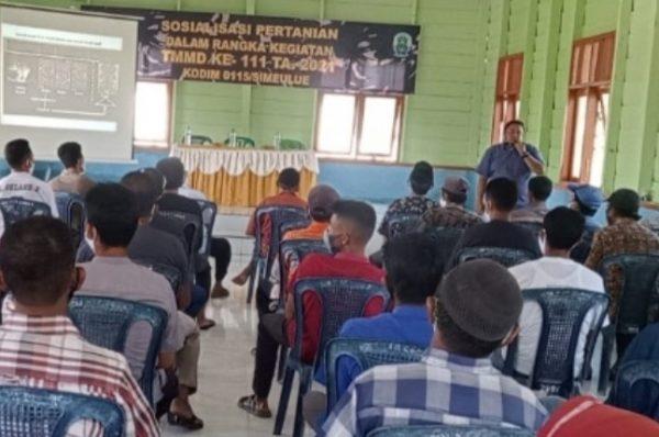 Giat Non Fisik TMMD ke 111 Tahun 2021 Kodim 0115/Simeulue Sosialisasi Pertanian
