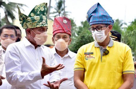 Menparekraf Sandi Kunjungi Desa Wisata Paloh Naga, Gubsu Pariwisata Tulang Punggung Ekonomi Daerah