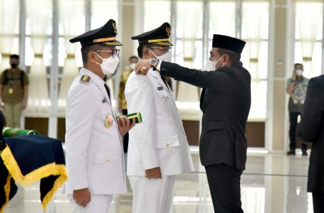 Lantik Bupati/Wakil Bupati Nias, Gubernur Edy Rahmayadi Ingatkan Tugas Besar Membangun Daerah