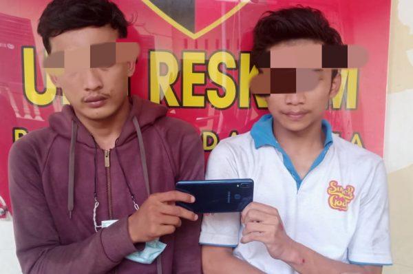 Dua Pelaku Jambret Handphone Diamankan Polsek Medan Area