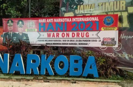 Polresta Sidoarjo Gelorakan Himbauan Perang Lawan Narkoba