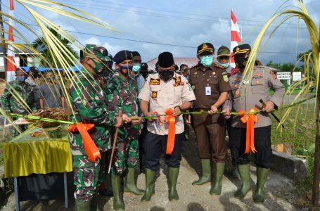 Pembukaan TNI Manunggal Membangun Desa ke 111 Tahun 2021 Kodim 0115/Simeulue