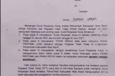 Sekda Nisbar Luncurkan Surat Pemberitahuan Berakhir Masa Kontrak Perjanjian PTT
