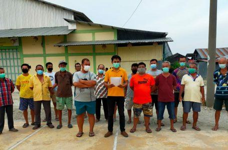 Warga Dusun IV Desa Kota Galuh Sambut Gembira Pengukuran Tanah