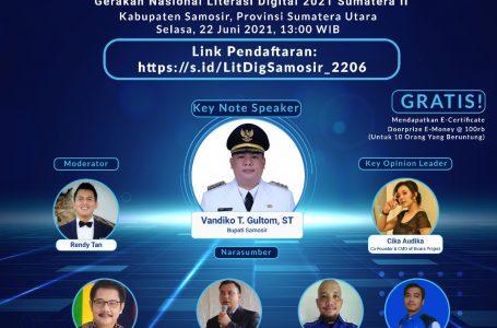 Jarimu – Harimaumu, Webinar dengan Keynote Speech Bupati Samosir Vandiko Gultom