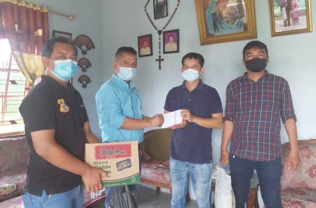 Wartawan Unit Poldasu dan Polrestabes Sakit, Ketua Pewarta Berikan Santunan dan Sembako