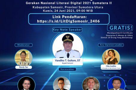 Literasi Digital Kabupaten Samosir, Keynote Speaker Bupati Vandiko Gultom