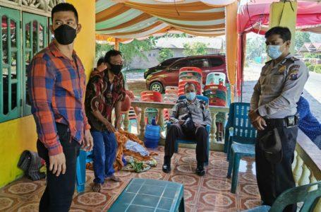 Tim Srigala Polsek Telmeng, Amankan Pemilik Hajatan Diduga Langgar Prokes di Masa PPKM Mikro