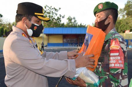 PPKM Darurat, Polres Pamekasan Salurkan Bansos Kapolri sebanyak 5.000 Kg kepada Pekerja Harian
