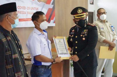 SMSI Siantar-Simalungun Terima Penghargaan di HUT Bhayangkara ke-75