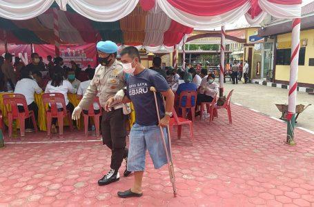 2.149 Orang Divaksin di Wilayah Hukum Polres Samosir