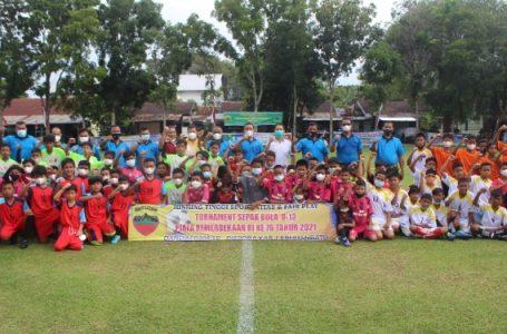 Sambut Kemri ke 76, Dandim 0209/LB Gelar Tournamen Sepakbola U-13