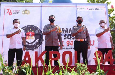 Alumni Akpol 94 Tunggal Panaluan Bantu Warga Terdampak Covid-19
