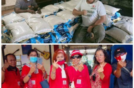 Semarak HUT Ke-76 RI, Perisai DKI Jakarta Salurkan Bantuan Beras 10 Kg