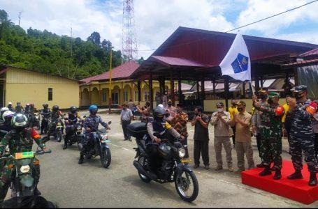Komandan Kodim bersama Kapolres Serta Danlanal Simeulue Lepas Tim Gebrak Masker