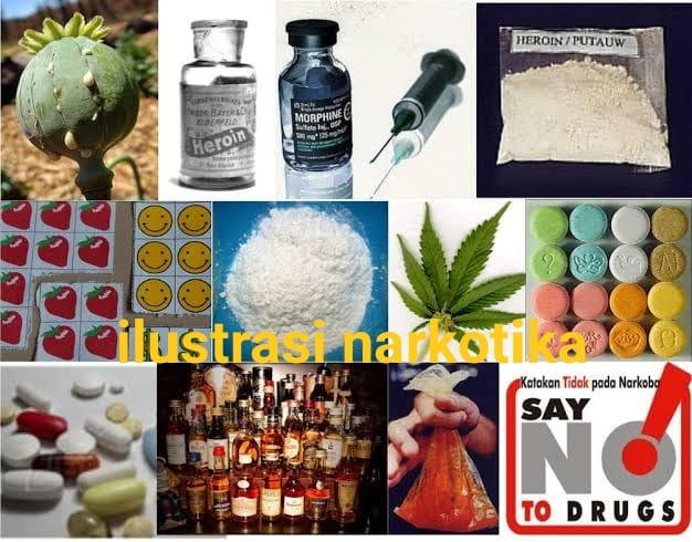 Ilustrasi Jenis-jenis Narkotika