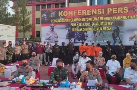 Kasus Perampokan Emas Seberat 6,8 Kg Simpang Limun Medan Dipaparkan Kapoldasu