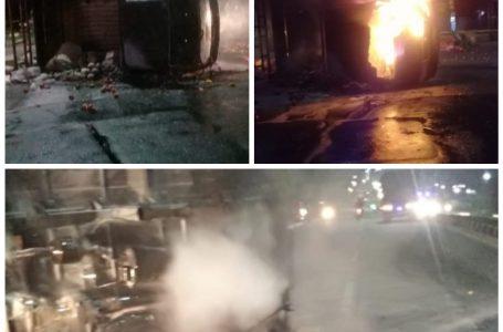 Mobil Pecah Ban dan Terbakar, Pengendara Suzuki Carry Tewas