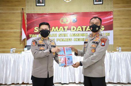 Kunjungan Tim Peneliti STIK Lemdiklat Polri Terkait Program ETLE di Polres Kediri