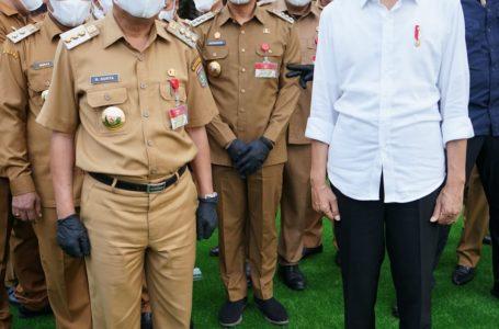 Bupati Asahan Hadiri Kunjungan Presiden Jokowi di Rumah Dinas Gubsu