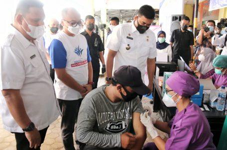 Wali Kota Medan Apresiasi Digelarnya Sentra Vaksinasi Indonesia Bangkit XL Axiata